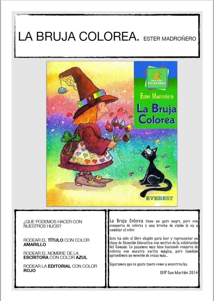 La bruja colorea. Actividades para Samaín/Halloween – IdeArte en ...